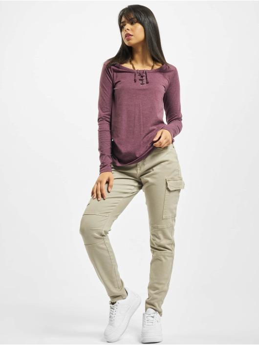 Sublevel Camiseta de manga larga Sessa púrpura