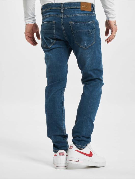 Sublevel dżinsy przylegające Cotton niebieski