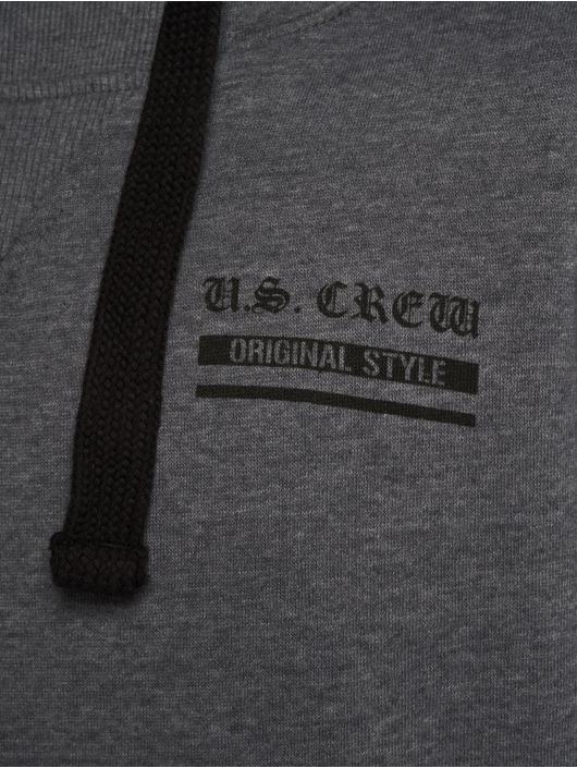 Sublevel Hoody US Crew grau