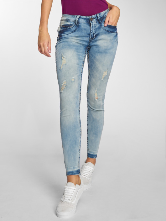 Sublevel Jean skinny Ripped bleu