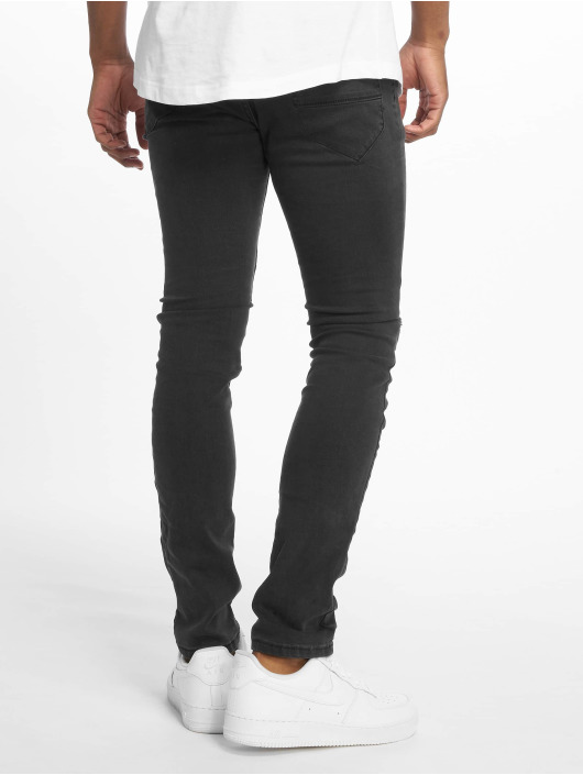 Sublevel Jeans slim fit Haka 5-Pocket Skinny nero