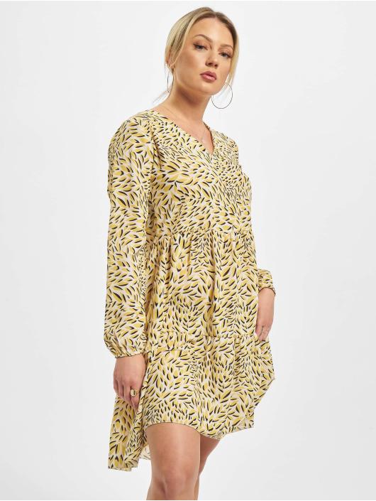 Sublevel jurk Printed geel