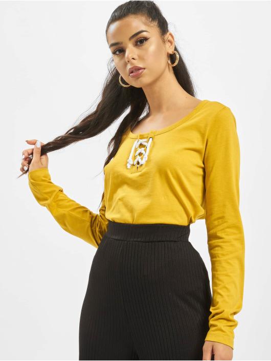 Sublevel Langærmede Lace gul