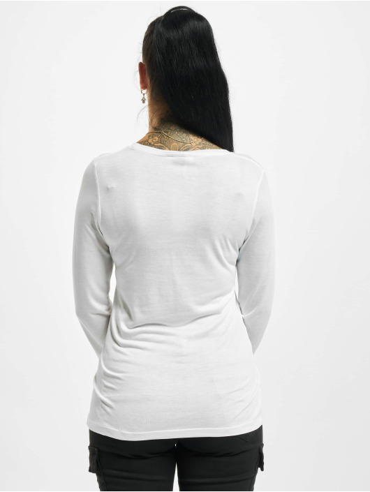 Sublevel Maglietta a manica lunga Fine bianco