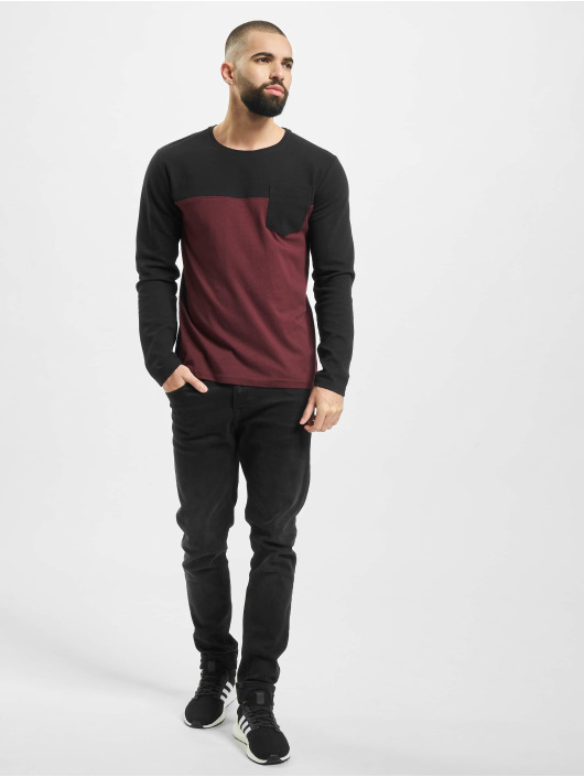 Sublevel Pitkähihaiset paidat Pocket punainen