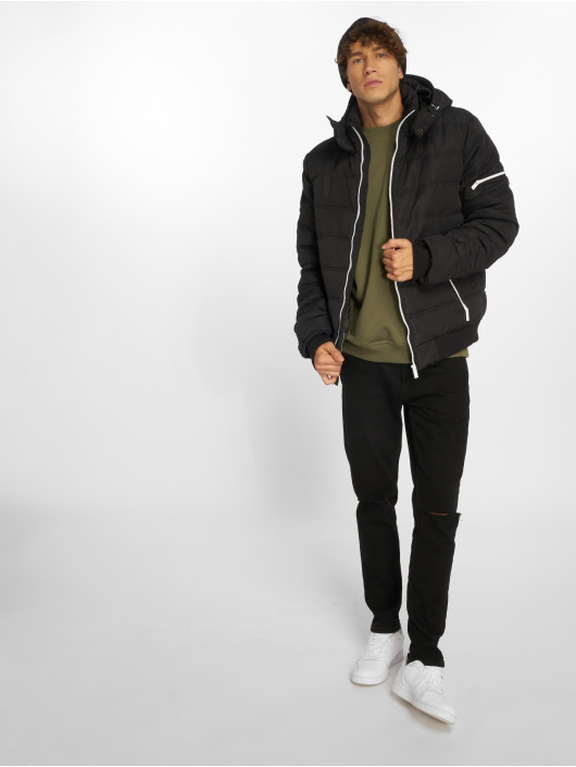 Sublevel Puffer Jacket Zipper schwarz