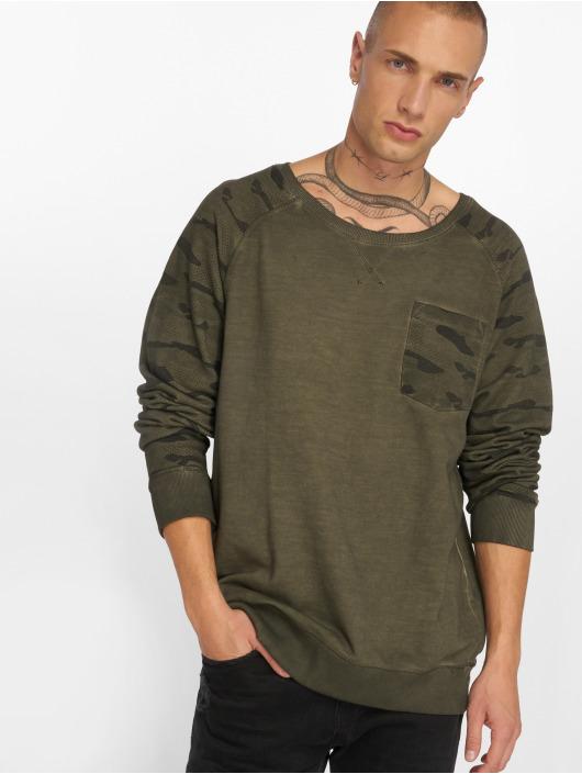 Sublevel Pullover Camo Raglan grün