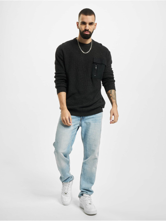 Sublevel Pullover Pocket schwarz