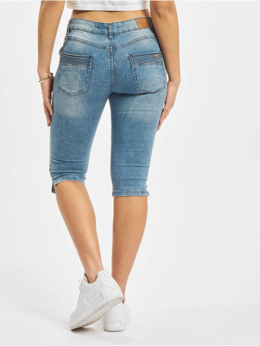Sublevel Shorts Denim Capri blå