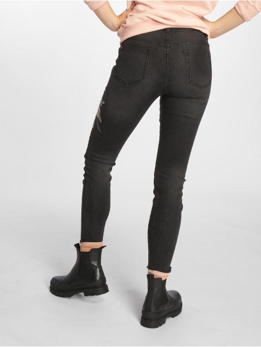 Sublevel Skinny Jeans Roses schwarz