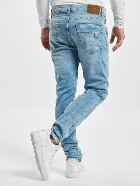 Sublevel Slim Fit Jeans Cotton blå