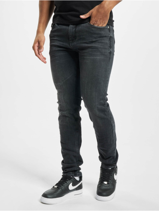 Sublevel Slim Fit Jeans B127 svart