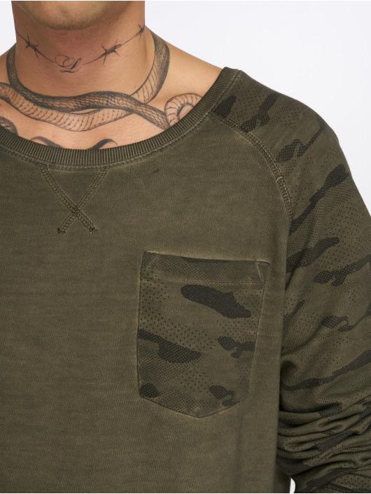 Sublevel Sweat & Pull Camo Raglan vert