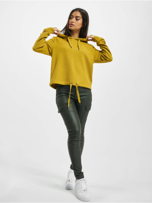 Sublevel Sweat capuche Alina jaune