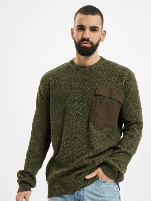 Sublevel Swetry Pocket oliwkowy