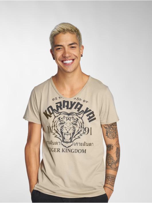 Sublevel T-Shirt Tiger Kingdom beige