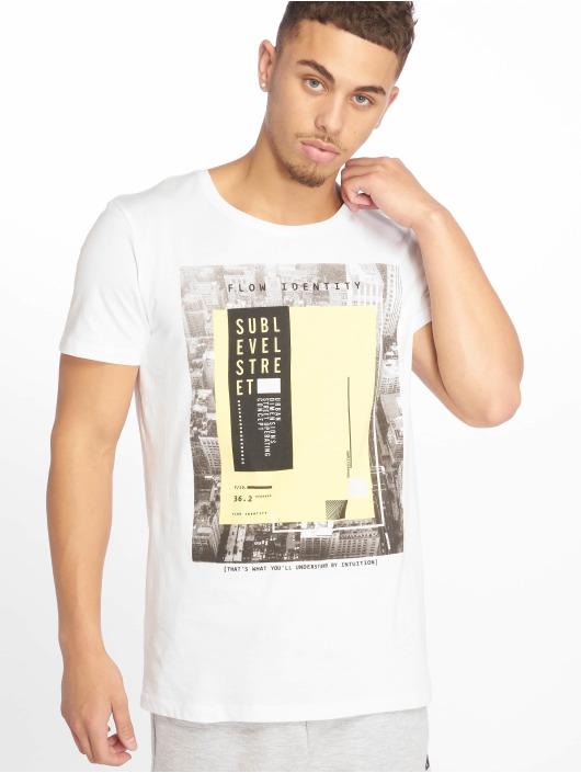 Sublevel T-shirt Flow Identity bianco