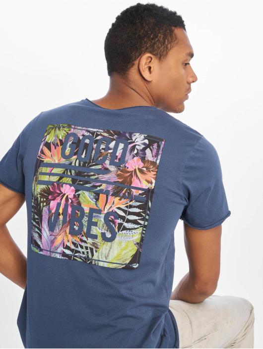 Sublevel T-shirt Good Vibes blå