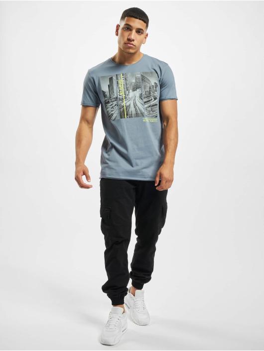 Sublevel t-shirt City Life blauw