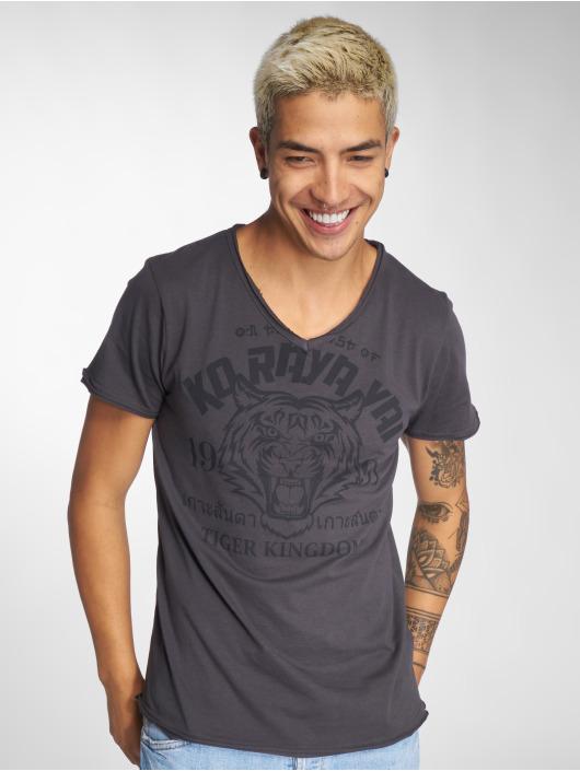 Sublevel T-Shirt Tiger Kingdom gray