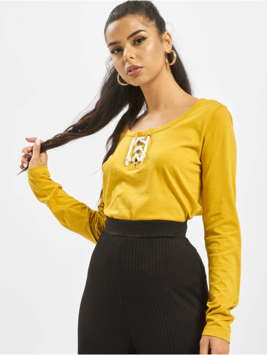 Sublevel T-Shirt manches longues Lace jaune