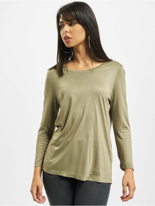 Sublevel T-Shirt manches longues Fine olive