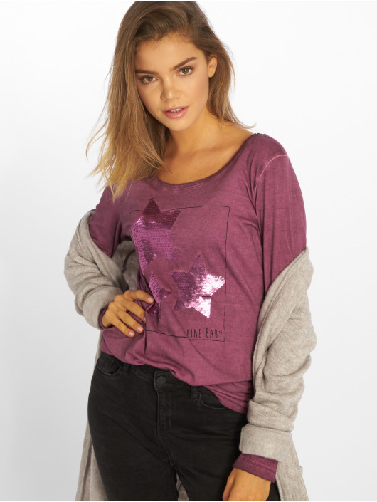 Sublevel T-Shirt manches longues Shine Baby pourpre
