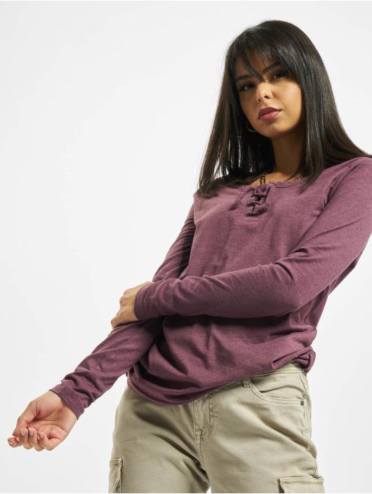 Sublevel T-Shirt manches longues Sessa pourpre