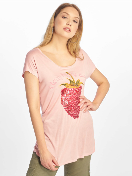 Sublevel T-Shirt Cut on Sleeves rosa