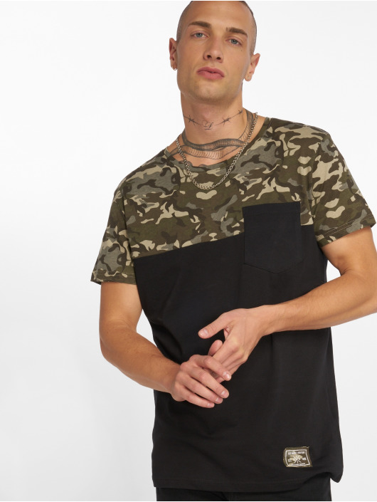 Sublevel T-Shirt Camo schwarz