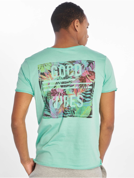 Sublevel T-shirt Good Vibes turchese