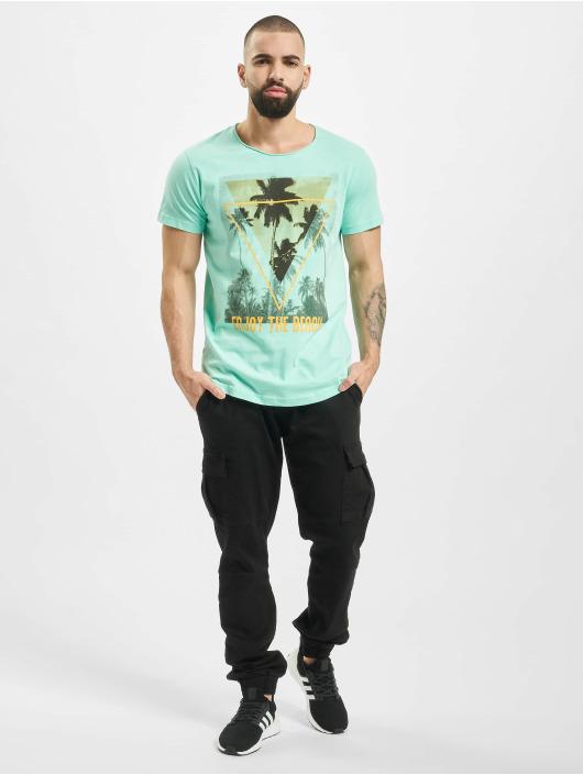 Sublevel T-shirt Enjoy turchese