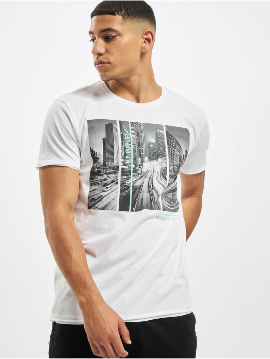 Sublevel T-Shirt City Life weiß