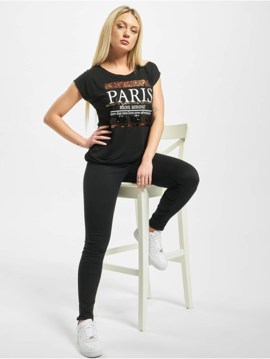 Sublevel t-shirt Paris zwart