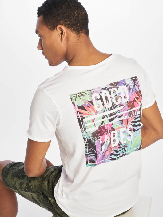 Sublevel T-shirts Good Vibes hvid