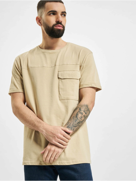 Sublevel T-Shirty Pocket bezowy