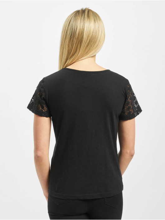 Sublevel T-Shirty Lace czarny