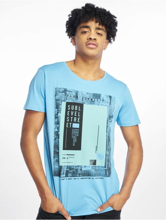 Sublevel T-Shirty Flow Identity niebieski