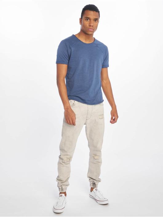 Sublevel T-Shirty Raglan niebieski