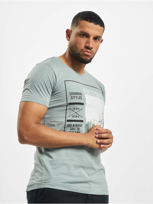 Sublevel T-Shirty Graphic niebieski