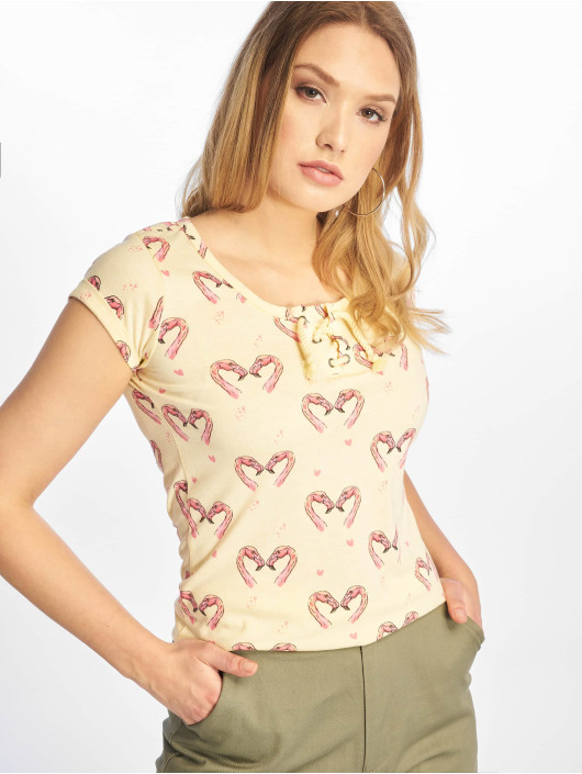 Sublevel T-Shirty Short Sleeves zólty