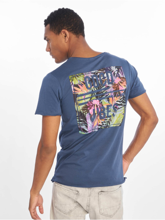 Sublevel T-skjorter Good Vibes blå