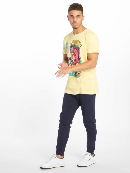 Sublevel T-skjorter Roundneck gul