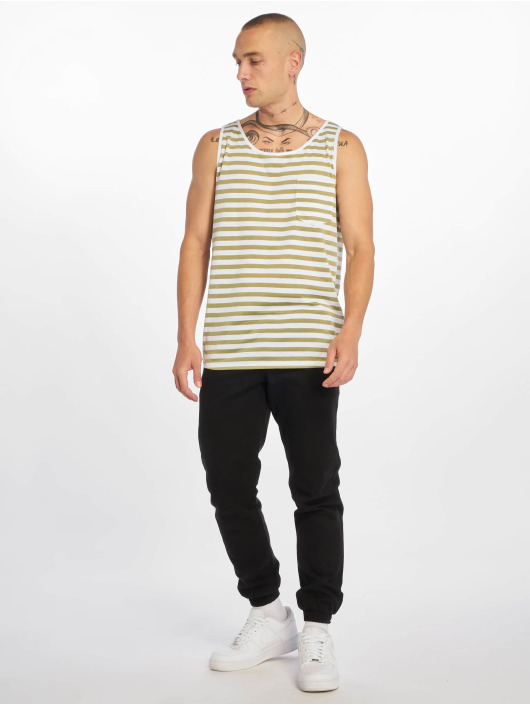 Sublevel Tank Tops Stripe green