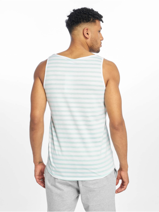 Sublevel Tank Tops Stripe turkusowy