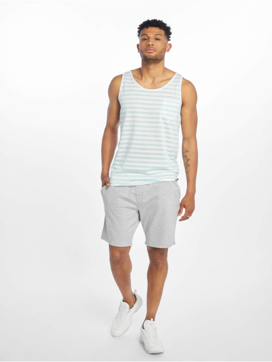 Sublevel Tank Tops Stripe turquoise