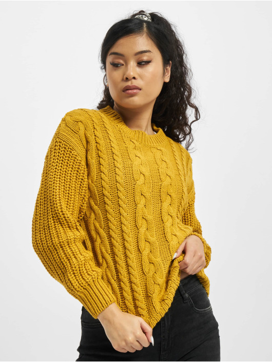 Sublevel trui Knit geel