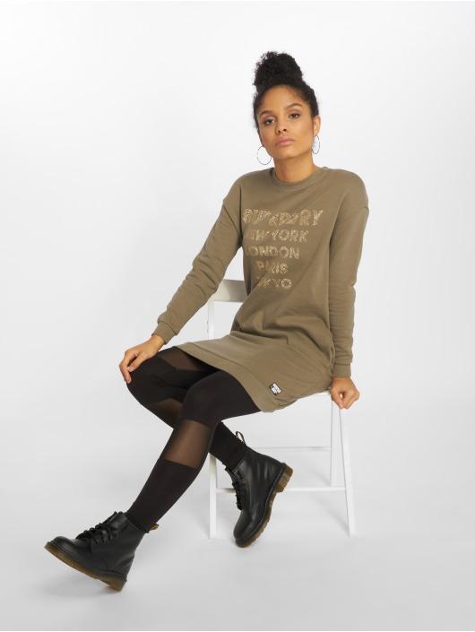 Superdry Dress Embellished khaki