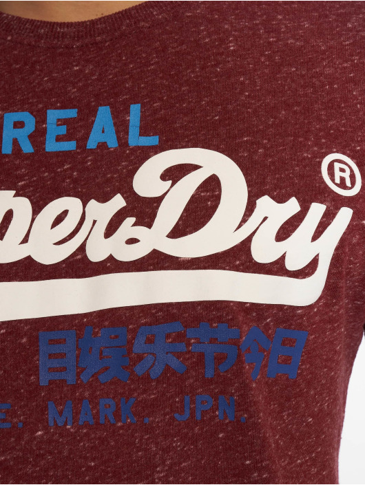 Superdry T-Shirt Vintage red