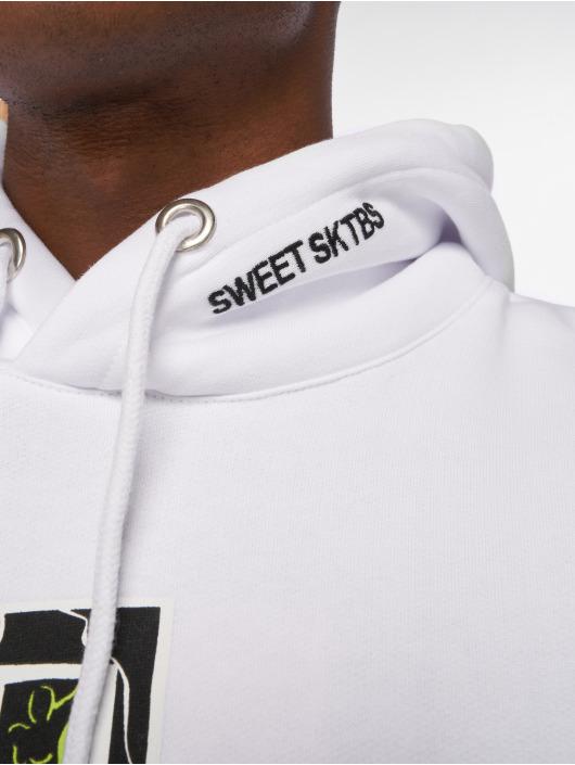 Sweet SKTBS Bluzy z kapturem Time Awake bialy